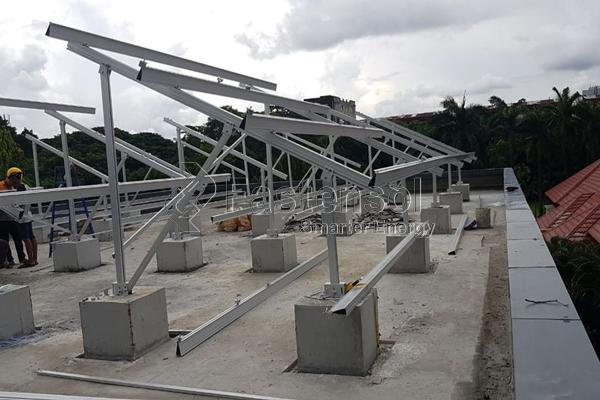 flat roof mount racking supplier