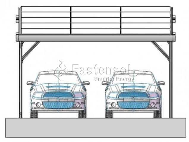 Aluminum Solar Waterproof Carport Mounting Structure